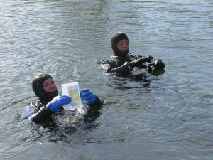onderwaterorientatie tijdens de puzzelduik