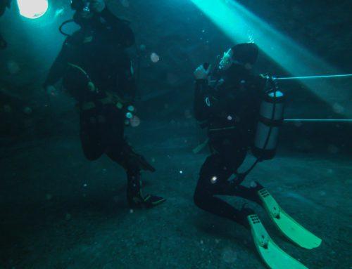 De eerste 10 meter duik!
